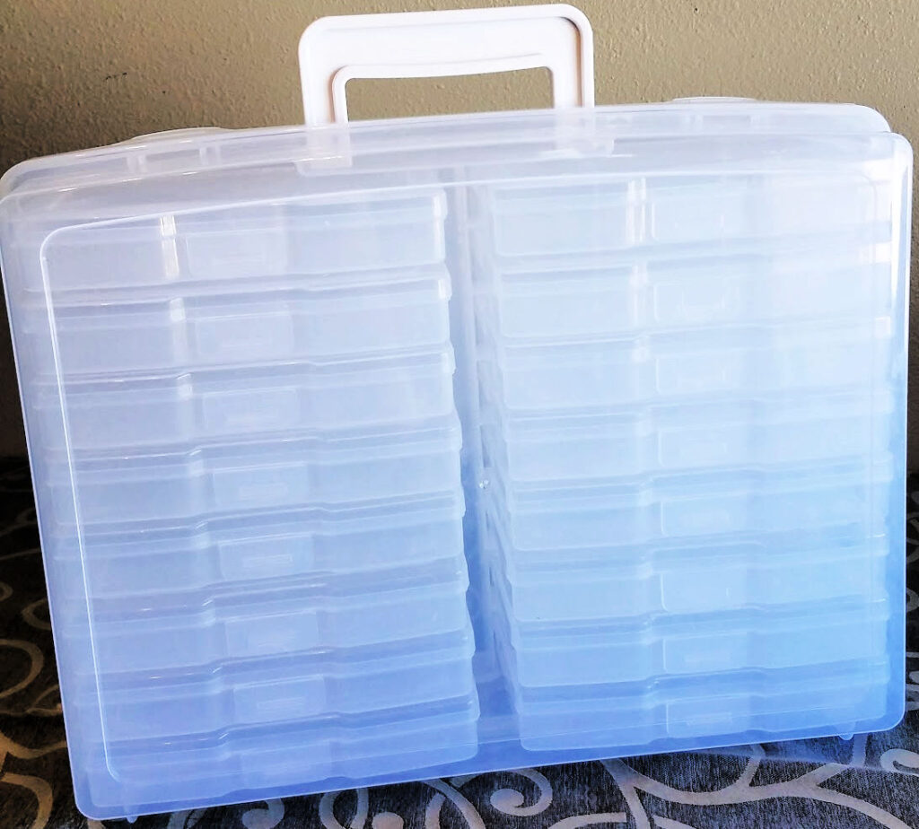 Photo storage container for seed storage
