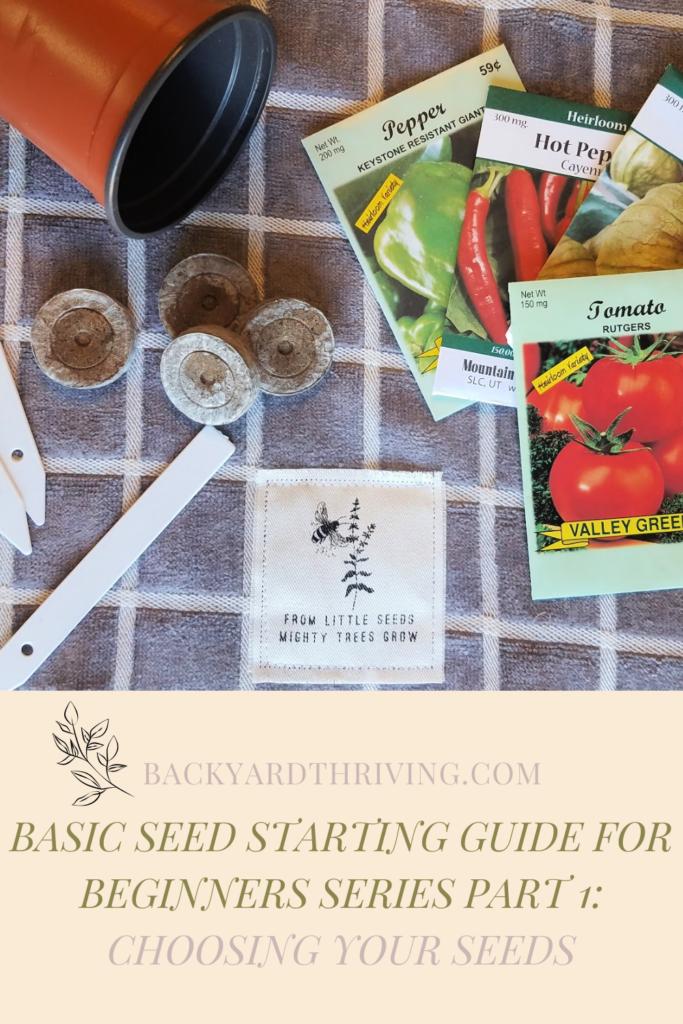basic seed starting guide for beginners part 1 pinterest pin