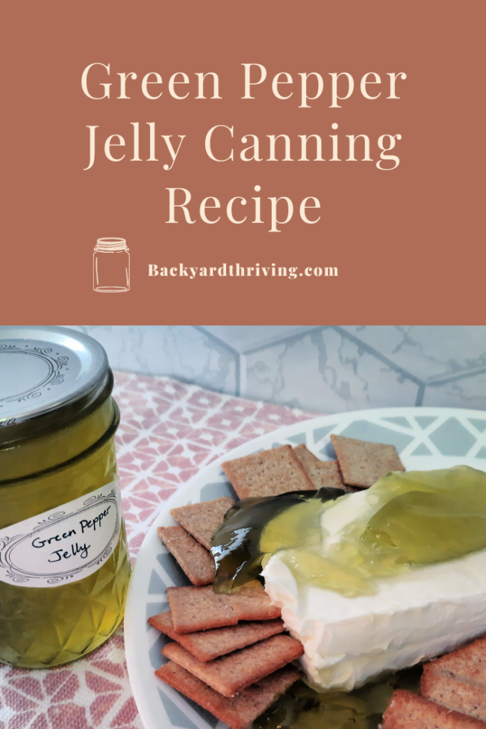 Green Pepper Jelly Canning Recipe #canning #greenpeppers #jelly #greenpepperjelly #canningrecipe #jellyrecipe #canningrecipe