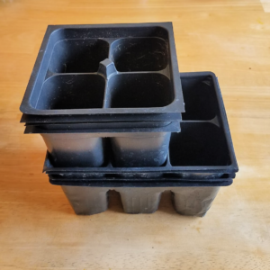 empty used seedling containers